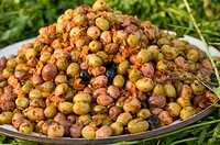 Jemaa El Fna place - Olives on a stand