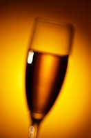 Close-up of champagne in a champagne flute
