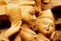 Statues in a temple, Jaisalmer, Rajasthan, India