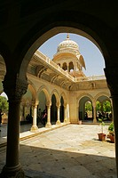 Columns in the courtyard of a museum, Government Central Museum, Jaipur, Rajasthan, India