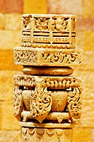 Close-up of a column, Rajmahal, Jaisalmer, Rajasthan, India