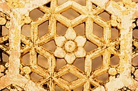 Close-up of a stone grille in a fort, Amber Fort, Jaipur, Rajasthan, India