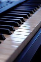 Piano keyboard, close-up