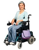 Teenage Girl in a Wheelchair