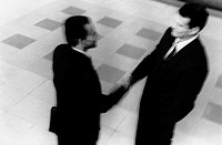 Above View of Businessmen Shaking Hands
