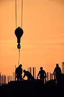 Construction Site at Dawn