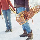 Couple withsnowshoes, low section
