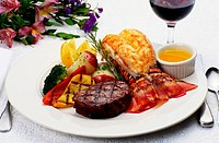 Steak and Lobster Tail Dinner