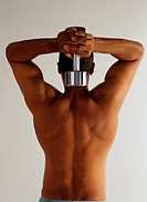 Man Lifting a Dumbbell Behind His Head
