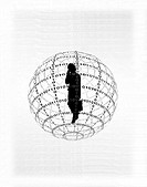Businesswoman in Globe