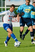 Michael Schumacher plays for Swiss football team FC Echichens in their match against FC Yverdon Sport (2005)