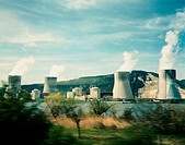 Cooling Towers of a Nuclear Power Plant in France