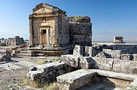 The Necropolis in the ruins of Hierapolis, Turkey