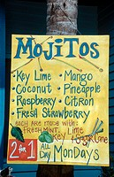 Mojito sign. Key West, Florida, USA