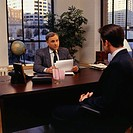 Businessman at meeting in office