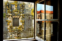 europe, portugal, tomar, convento do cristo, window
