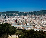 View from Montjuic. Barcelona. Catalonia. Spain