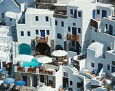 Apartments in Oia city, Santorini island, Cyclades, Greece