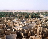 The medina of Ghat. Lybia