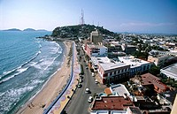 View of old Mazatlán, Mexico