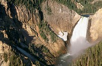 Lower Falls. Grand Canyon of the Yellowstone. Yellowstone National Park. Wyoming. USA