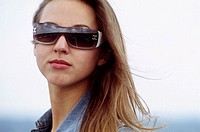 Portrait of woman with sunglasses
