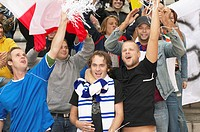 Football supporters cheering