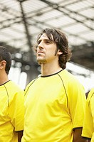 Footballers in yellow