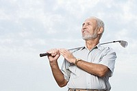 Man holding a golf club