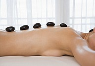 Woman having Lastone therapy (thumbnail)