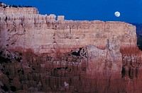 Moon rising ocver the Grand Canyon, USA