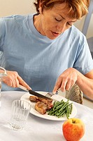 ELDERLY PEOPLE EATING A MEAL<BR>Model.
