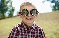Boy wearing aviator goggles (thumbnail)