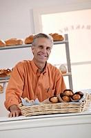 Bakery employee, portrait.