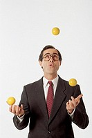 Man juggling