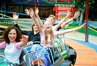 Group of Teenagers in Amusement Park