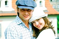 Portrait of a couple in hats (thumbnail)