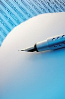 Close-up of a fountain pen