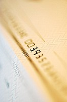 Close-up of numbers on a check (thumbnail)