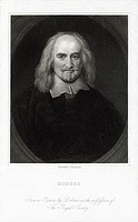 Thomas Hobbes (1588-1679), English philosopher. Hobbes led a sheltered and long life, mostly as secretary and teacher to the family of Lord Cavendish,...