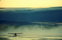 Seaplane in lake, Homer, Alaska, USA
