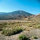 Teide and Llano de Ucanca. Tenerife, Canary Islands. Spain