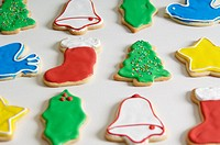 Decorated Christmas cookie pattern