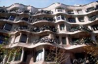 Building designed by Gaudi, in Barcelona, Catalunya,
