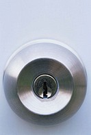 Lock in a door knob