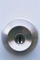 Lock in a door knob