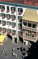 Little golden roof, aerial view. Innsbruck. Tyrol. Austria.