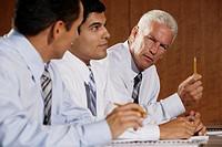 Business executives in seminar