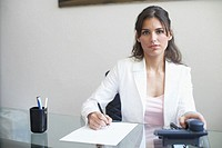 Portrait of a businesswoman sitting in an office