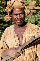 Senoufo hunters, Festivities, Loulouni Village, Sikasso area, Mali, Africa.